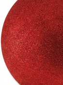 Red Glittered Large Bauble Display Decoration - 20cm