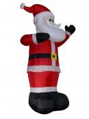 Gigantic Standing & Waving Santa Illuminated Inflatable - 4m