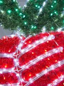 Double Tinsel Bell LED Rope Light Motif - 1.1m