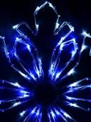 Blue & Cool White LED Snowflake String Light Silhouette - 58cm