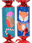 Cute Christmas Critters Pattern Mini Christmas Cracker Bon Bons - 12 x 17cm