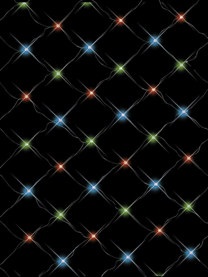 96 Multi Colour LED Concave Bulb Christmas Net Light - 2.1m