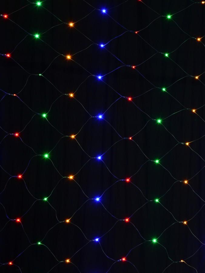 180 Multi Colour LED Concave Bulb Christmas Net Light - 1.8m