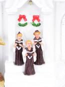 White Church With Revolving Christmas Tree - 37cm