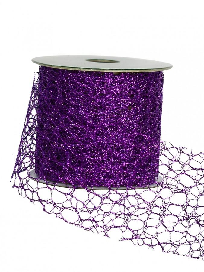 Webbed Pattern Purple Ribbon - 3m