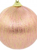 Spectacular Pink With Gold Silk Thread Baubles - 8 x 75mm