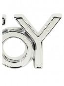 Ceramic White & Silver ' JOY ' Freestanding Ornament - 22cm