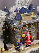 Grand Winter Fun Park Christmas Village Scene With Christmas Fair Rides - 47cm