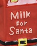 Milk Jug & Cookie Plate For Santa Christmas Ceramic Ornaments - 2 Piece Set