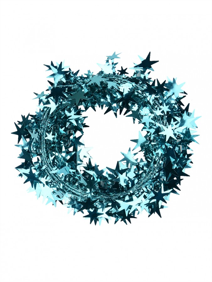 Turquoise Star Wired Garland - 7.6m