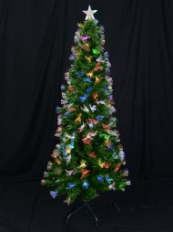 61aa904707ff Fibre Optic Christmas Tree With Colour Changing Led Star - 1.8m
