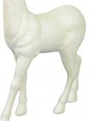 White & Iridescent Glittered Standing Reindeer Christmas Ornament - 45cm