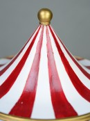 Carnival Themed Red & White Topped Merry-Go-Round - 26cm