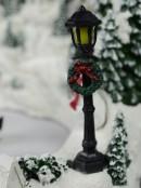 Illuminated & Animated Ice Skating Winter Christmas Eve Scene - 32cm