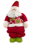 Retractable Leg Plush Standing Santa - up to 1.06m