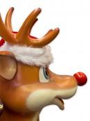 Cute Standing Life Size Christmas Reindeer Resin Decor - 1.1m