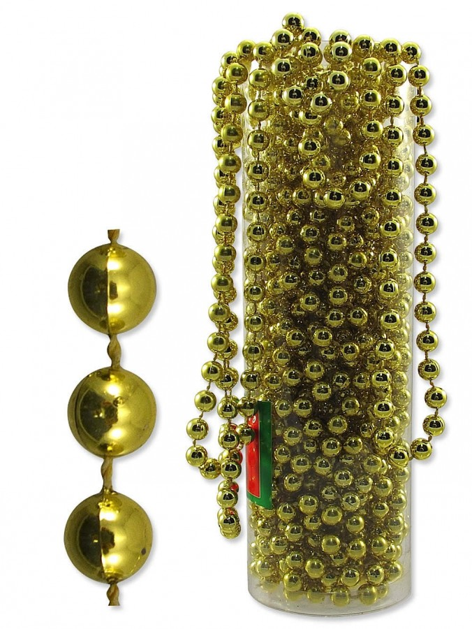 gold bead garland 10m decorations the