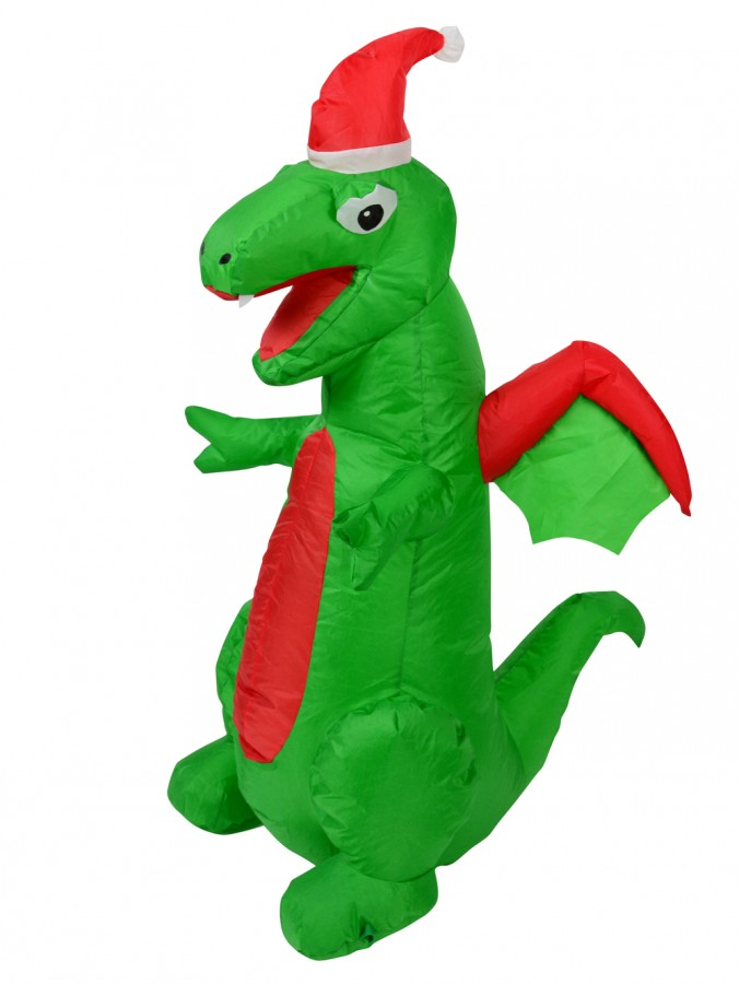 Cute But Very Scary Baby Christmas Dragon Illuminated Inflatable - 1.2m