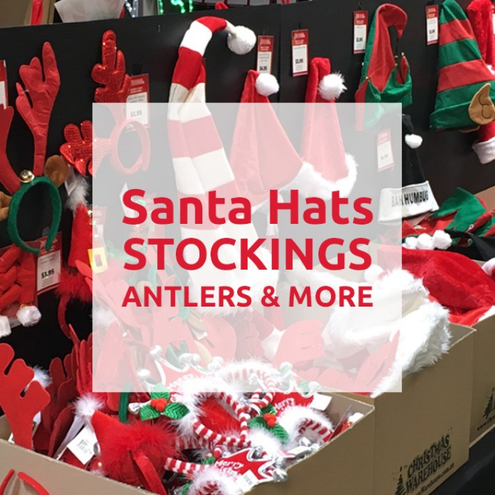 Santa Hats, Christmas Stockings, Antlers & more