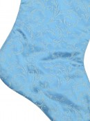 Tiffany Blue Satin Stocking With Light Blue Pattern - 52cm