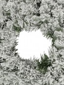 Heavily Flocked Snow Christmas Pine Wreath With 120 Tips - 60cm