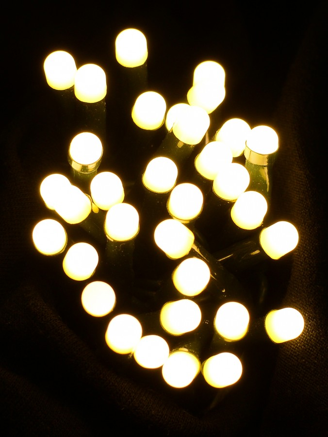 300 Warm White LED Mini Round Bulb Christmas Fairy String Lights - 30m