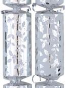 White & Shiny Silver With Mistletoe Christmas Cracker Bon Bons - 10 x 36cm