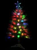 Multi Colour Changing  LED Rainbow Fibre Optic Tree - 90cm