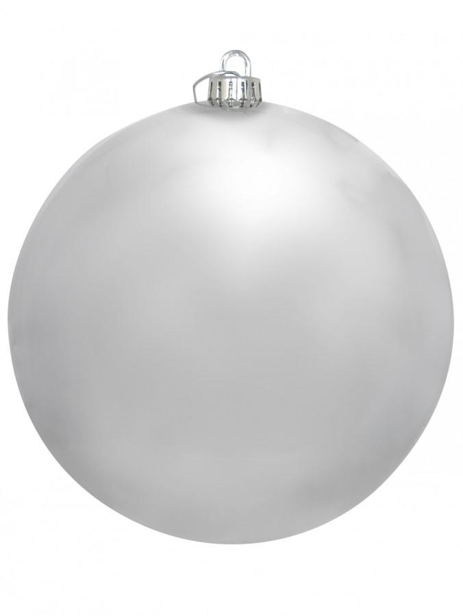 Large Display Metallic Silver Bauble - 20cm