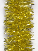 Gold Metallic 6ply Classic Christmas Tinsel Garland - 50mm x 5m