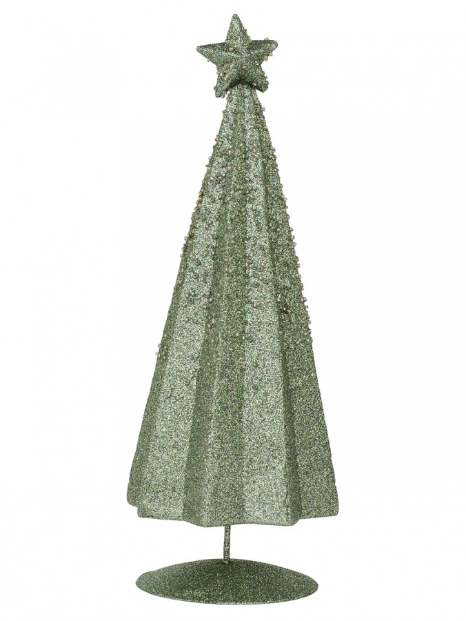Mint Green Conical Shape Table Top Christmas Tree - 28cm