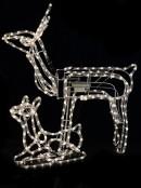 Neutral White LED Rope Light 3D Animated Reindeer Family  Display - 3 Set