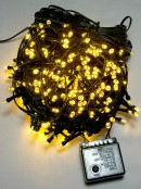 500 Warm White LED Concave Bulb Christmas Fairy String Lights - 25m