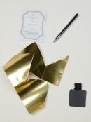 Metallic Gold Design With Tag Luxury Christmas Cracker Bon Bons - 10 x 35cm