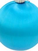 Turquoise Blue Silk Thread Baubles - 8 x 75mm