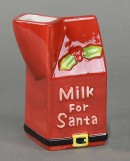 Ceramic Milk For Santa Jug & Snack For Santa Set - 2 piece set