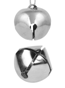 Silver Iron Functioning Bells Hanging Ornament - 30 x 25mm