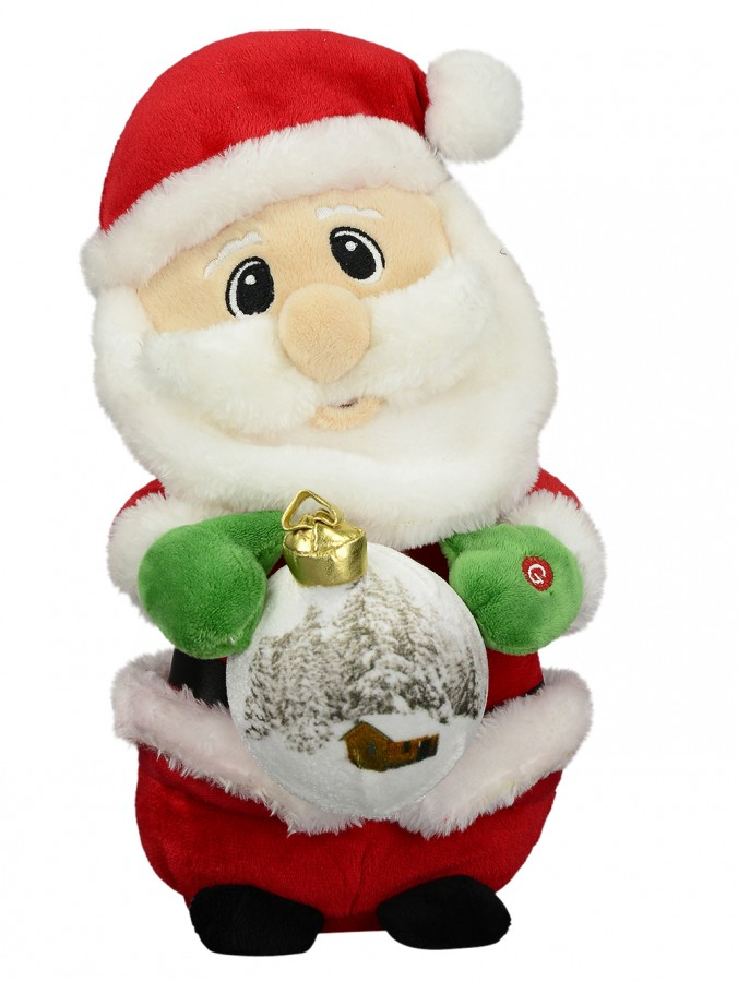 Animated Christmas Toys : Christmas carols santa with led bauble musical animation