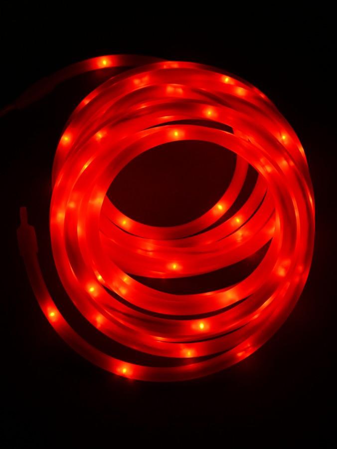 100 LED Red Case USB Snake Rope Light - 5m