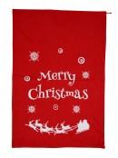 Red Felt Merry Christmas & Sleigh Silhouette Gift Santa Sack - 88cm