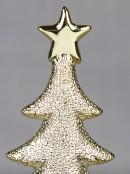 Ceramic Champagne Christmas Tree Ornament - 21cm