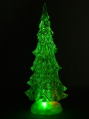 LED Illuminated Glittered Christmas Tree Snow Globe - 40cm
