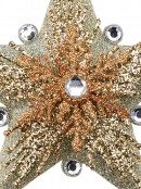 Silver Star With Snowflakes Christmas Tree Hanging Decoration - 13cm