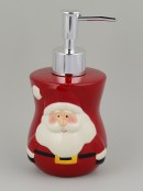 Ceramic Santa Liquid Soap Dispenser & Dish - 2 Piece Set