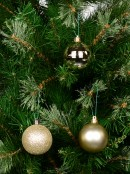 Gold Matte, Metallic & Glitter Baubles - 12 x 60mm