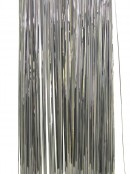 Silver Lametta Tinsel Icicles - 300 strands