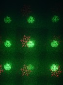 Multi Point Red & Green Christmas Pattern Garden Laser Light - 12m x 12m