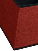 Red Square Shape Contemporary Vertical Christmas Tree Skirt - 48cm