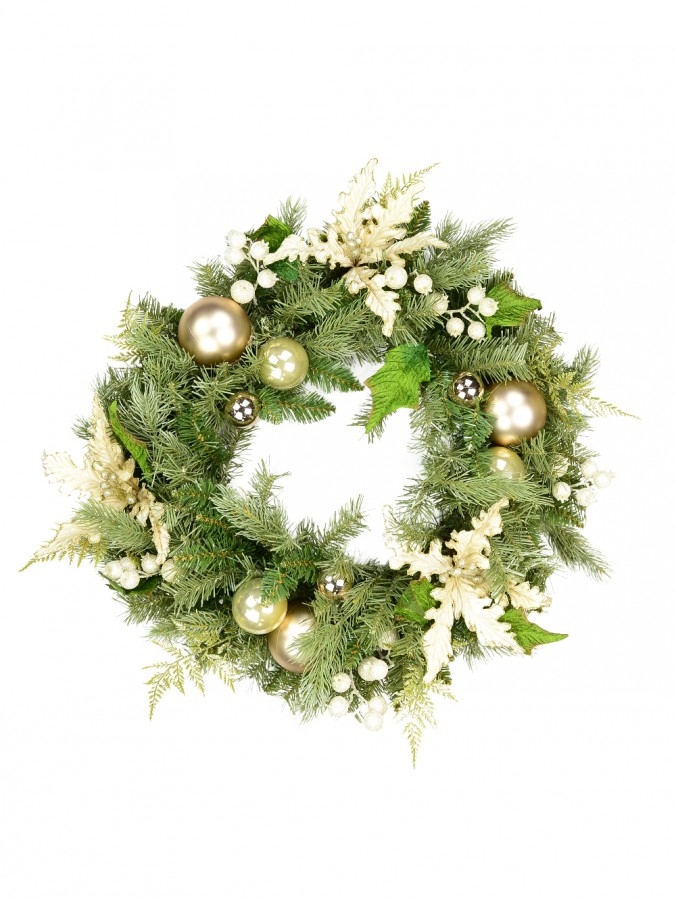 Pre-Decorated Antique Gold Wreath - 60cm