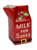 Ceramic Milk For Santa Jug & Snack For Santa Set - 2 piece set